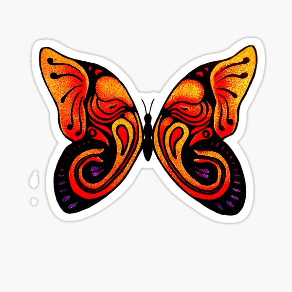 A Butterfly Never Forgets Sticker