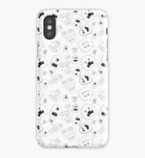 Robots & Monsters (Black and White) iPhone Case/Skin