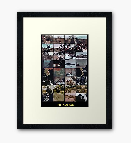 Snippets of the Vietnam War Framed Print