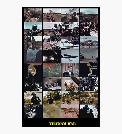 Snippets of the Vietnam War Photographic Print