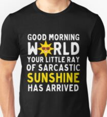 Good Morning Your Ray Of Sarcastic Sunshine Arrived  T-Shirt