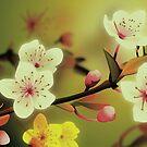 Yoshie blossom green by Lara Allport