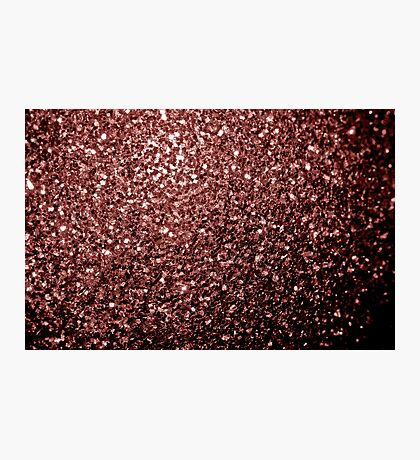 Beautiful Glam Marsala Brown-Red Glitter sparkles Photographic Print