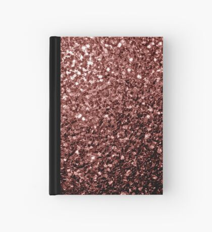 Beautiful Glam Marsala Brown-Red Glitter sparkles Hardcover Journal