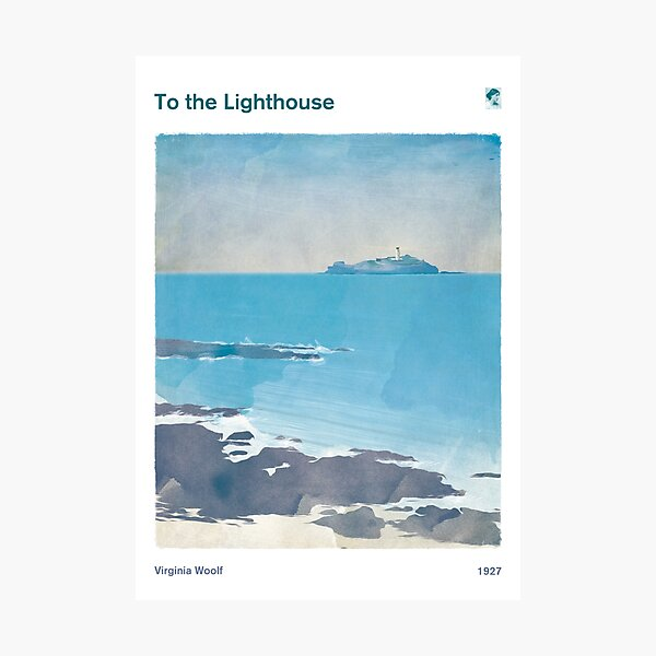 To the Lighthouse, Virginia Woolf Literary Art for Book Lovers Photographic Print