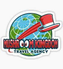Mushroom Kingdom Travel Agency Sticker