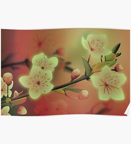 Yoshie blossom peach Poster