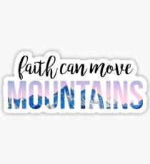 Pegatina la fe puede mover montañas