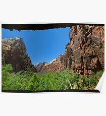 Zion Canyon Seen from the Weeping Rock Poster