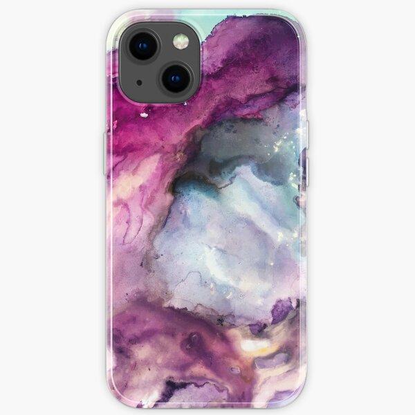 Purple Fusion - Peinture technique mixte Coque souple iPhone