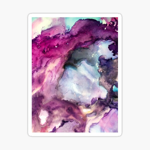 Purple Fusion - Mixed Media Painting Sticker