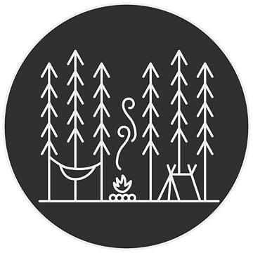 Minimal Camping Illustration by KipItSimple