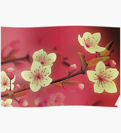 Yoshie blossom pink Poster