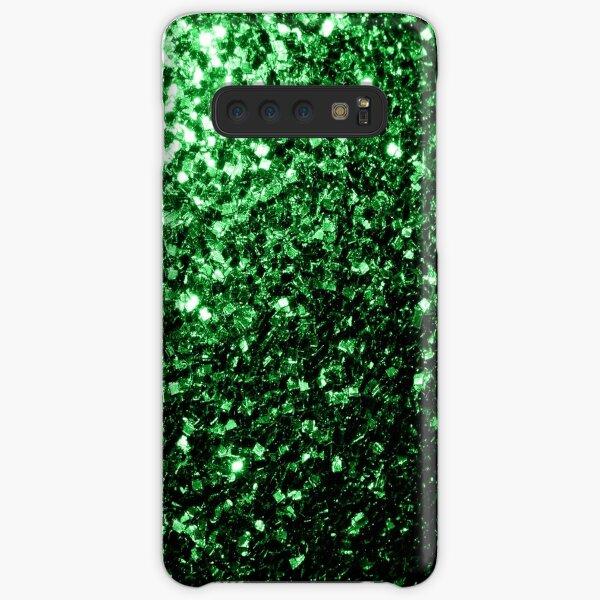 Glamour hermoso brillo verde oscuro brilla Funda rígida para Samsung Galaxy