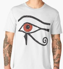 Eye of Horus Ancient Egyptian Symbol of Protection on Red Men's Premium T-Shirt