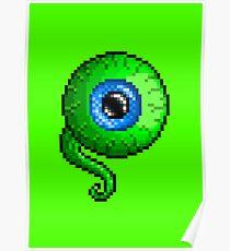 Jacksepticeye Pixel art logo - SepticeyeSam Eyeball Poster