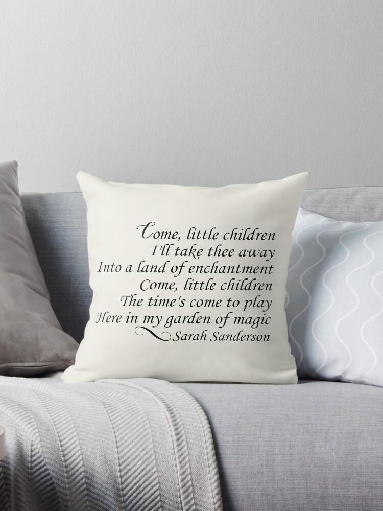 Come Little Children Throw Pillows By Kjanedesigns Redbubble Beauteous Children's Decorative Pillows