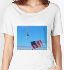 Sky Guy with Flag Women's Relaxed Fit T-Shirt
