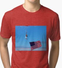 Sky Guy with Flag Tri-blend T-Shirt
