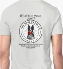 """RFC """"What's in your bowl?"""" Border Collie logo shirts T-Shirt"""