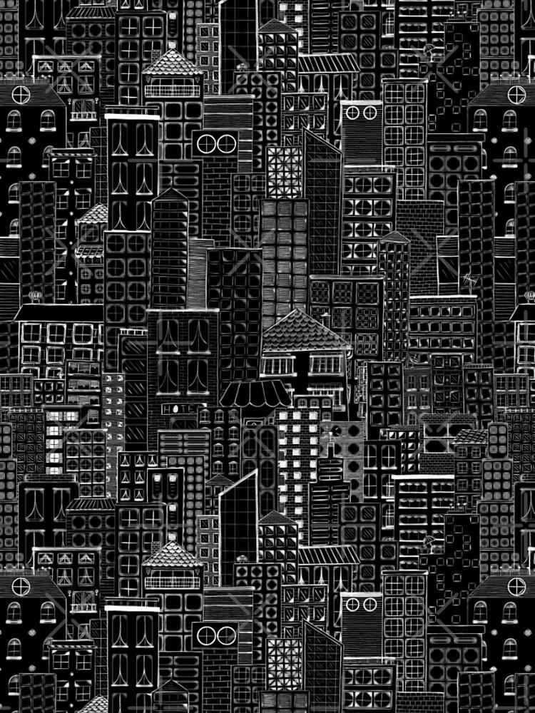 City Doodle Night by beththompsonart