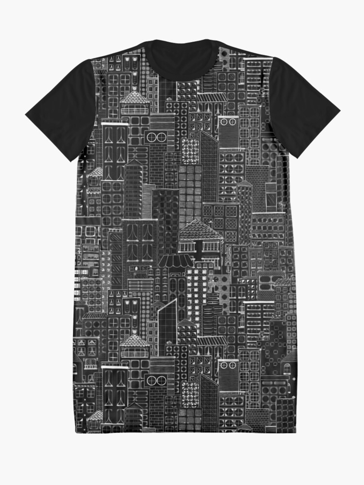 Alternate view of City Doodle Night Graphic T-Shirt Dress