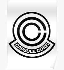 Capsule Corp Black Logo Poster