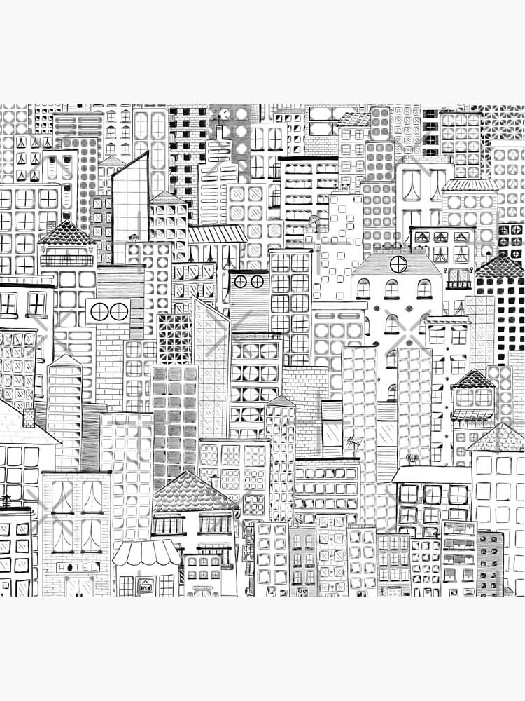 City Doodle Day by beththompsonart