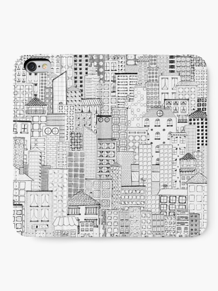 Alternate view of City Doodle Day iPhone Wallet