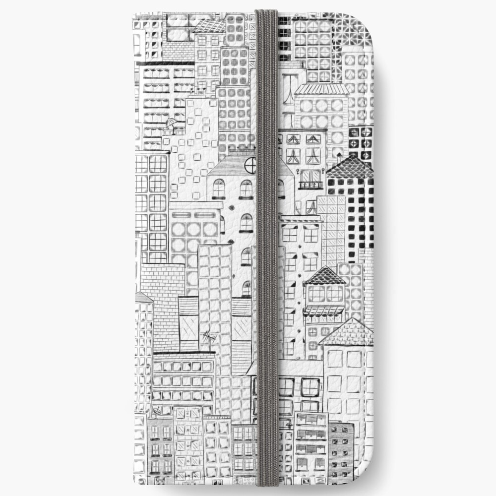 City Doodle Day iPhone Wallet