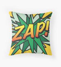 Comic Book ZAP! Throw Pillow