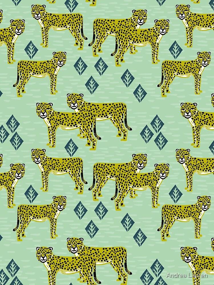 Cheetah safari nursery kids animal nature pattern print gifts  by papersparrow