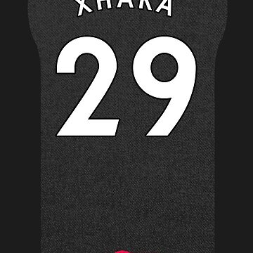 Granit Xhaka iPhone Arsenal Third Shirt by dandroid707