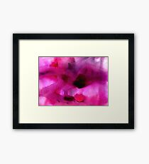 Purple pink watercolor texture Framed Print