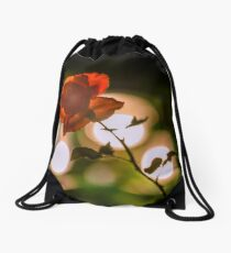 Flower macro Drawstring Bag