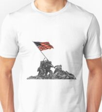 Soldiers Raising US Flag at Iwo Jima Slim Fit T-Shirt