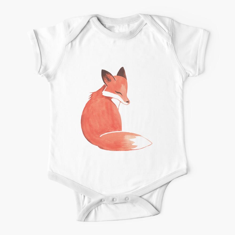 Watercolor Fox Baby One-Piece