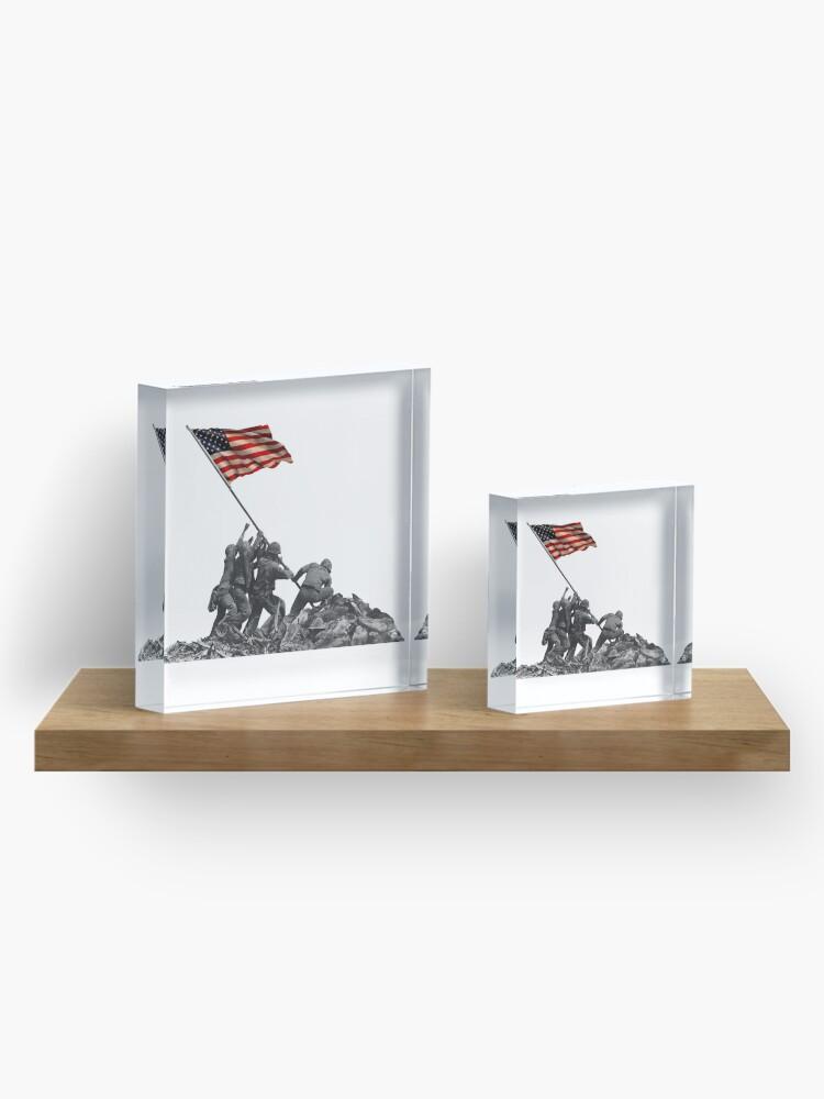 Alternate view of Soldiers Raising US Flag at Iwo Jima Acrylic Block