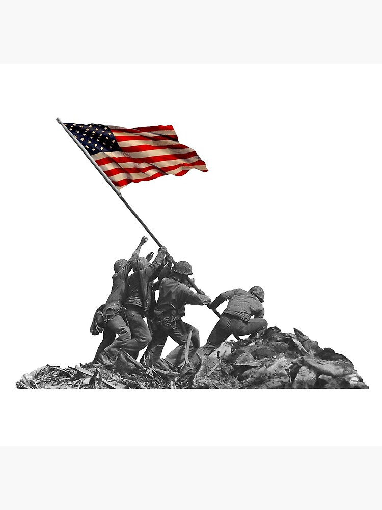 Soldiers Raising US Flag at Iwo Jima by tpz757