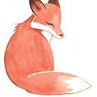 Watercolor Fox by Ashley Weiler