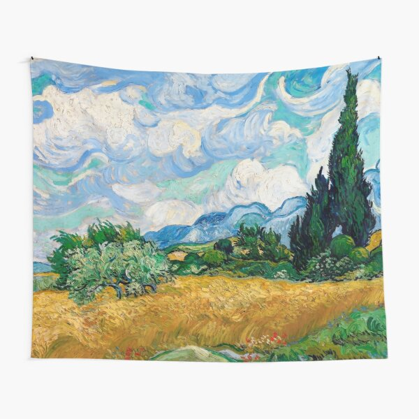 Wheat Field with Cypresses by Vincent van Gogh Tapestry