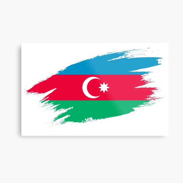 SUMGAYIT AZERBAIJAN Aluminum Street Sign Azerbaijani flag city country road wal
