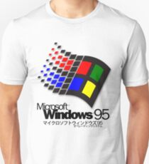 Camiseta unisex WINDOWS 95 (blanco / sin nubes)