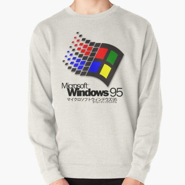 WINDOWS 95 (white/no clouds) Pullover Sweatshirt
