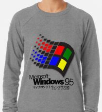 WINDOWS 95 (white/no clouds) Lightweight Sweatshirt