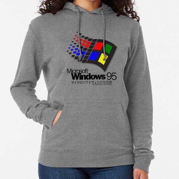 WINDOWS 95 (white/no clouds) Lightweight Hoodie