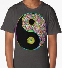 Yin Yang Symbol Psychedelic Art Design Long T-Shirt