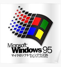 WINDOWS 95 (white/no clouds) Poster