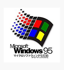 WINDOWS 95 (white/no clouds) Photographic Print