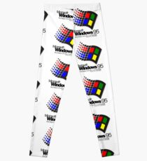 WINDOWS 95 (weiß / keine Wolken) Leggings
